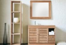 Мебель для ванны из массива дерева: престиж и комфорт в простоте