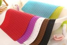Резиновые коврики для ванной: преимущества и разновидности