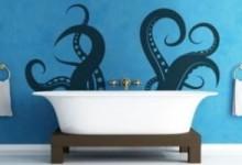 Необычный способ оформления ванной: интерьерные наклейки