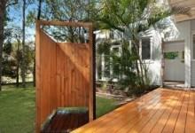Душевая кабина из дерева: эстетика природного материала