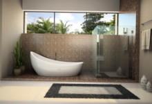 Современный дизайн маленькой ванной комнаты с фото