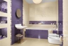 Дизайн сиреневой ванной комнаты