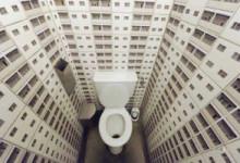 Стены в туалете дешево и красиво