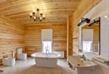 Варианты отделки стен ванной комнаты в деревянном доме