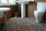 Как сделать галечный пол в ванной своими руками