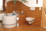 Применение пробковых покрытий для пола в ванной комнате