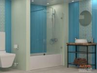 Красивые и недорогие шторки для ванной Акма