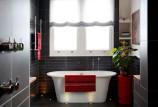 Красная ванная комната: что надо знать: советы и фото