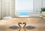 3D плитка для пола в ванной комнате