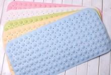 Какими бывают нескользящие коврики для ванны?