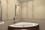 Керамической плитки для стен ванной: обзор размеров