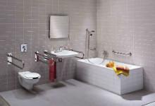 Как выбрать и установить поручни на стену для ванной комнаты