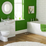 Дизайн интерьера зеленой ванной комнаты 2015