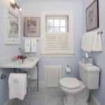 Фото голубой ванной комнаты 2015