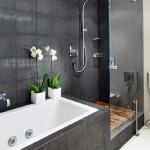 Оформление серой ванной комнаты варианты