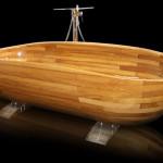 Красивая деревянная ванна
