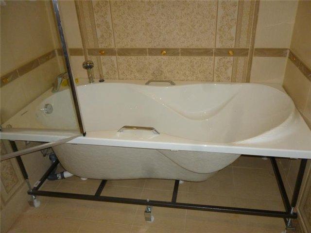 Как сделать каркас для акриловой ванны своими руками